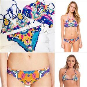 Trina Turk Multicolor Tapestry 3 Piece Bikini Set